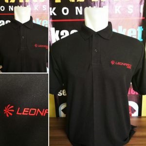 kaos polo shirt bordir